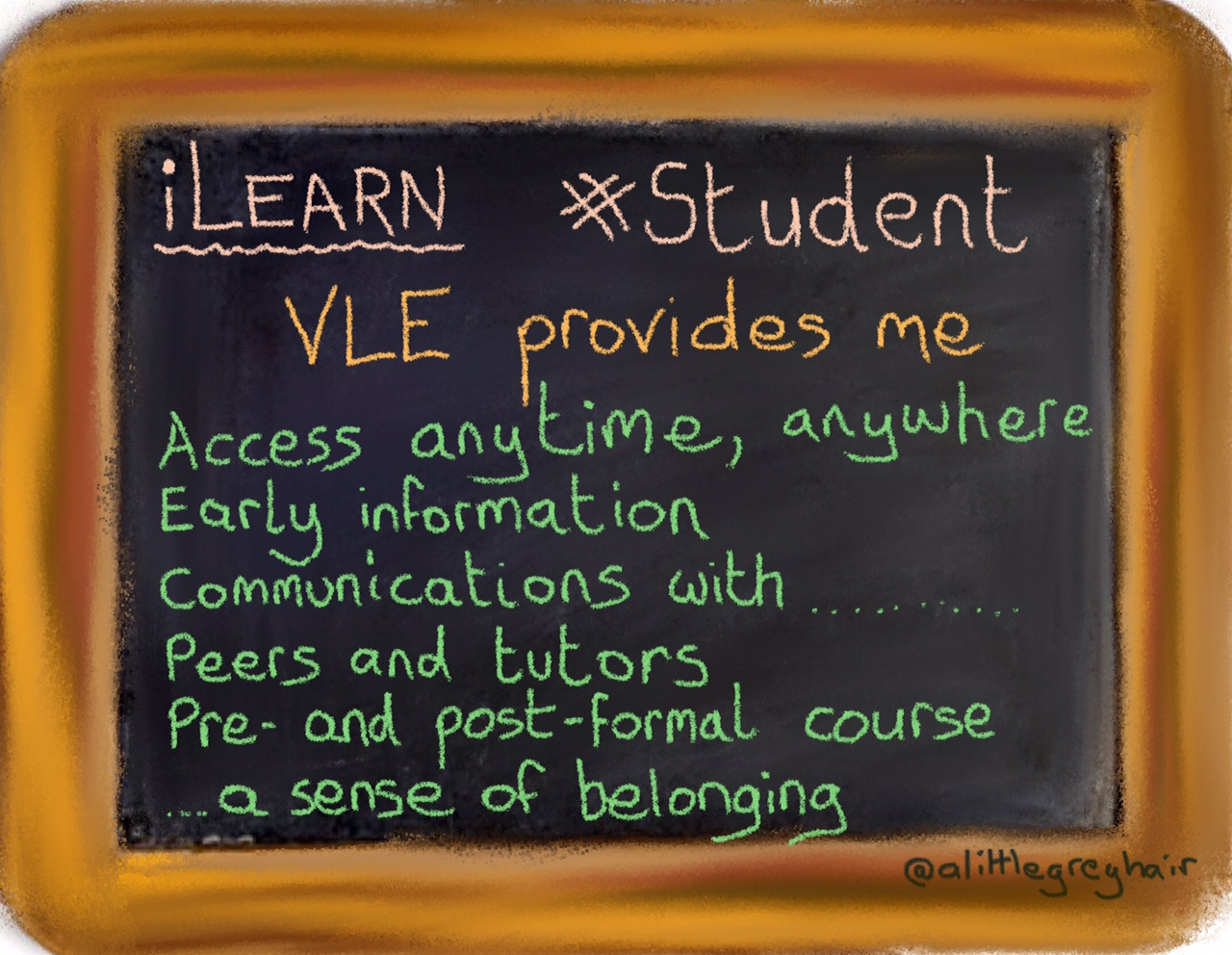 in exchange for all this wisdom learner benefits of a vle